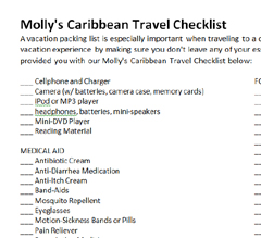 Click here for Molly's Caribbean Travel Checklist